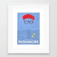 rushmore Framed Art Prints featuring Rushmore by Ben Mcleod