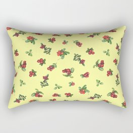 Cranberries yellow background Rectangular Pillow