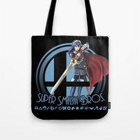 smash bros Tote Bags featuring Lucina - Super Smash Bros. by Donkey Inferno