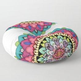 Geometrical Flower Floor Pillow