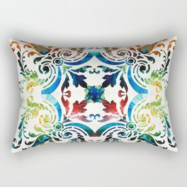 Pattern Art - Color Fusion Design 7 By Sharon Cummings Rectangular Pillow