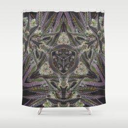 Purple Black Lime #2 Shower Curtain