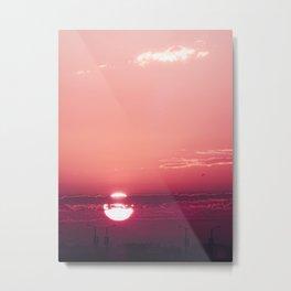 Dark Rose Dawn Metal Print