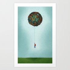 120,000 ft  Art Print