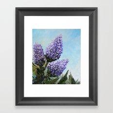 Springtime Lilacs Framed Art Print