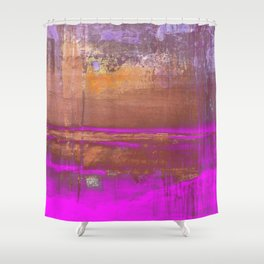Pink Color Patches Shower Curtain