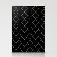 the wire Stationery Cards featuring Wire Fence by Crazy Thoom