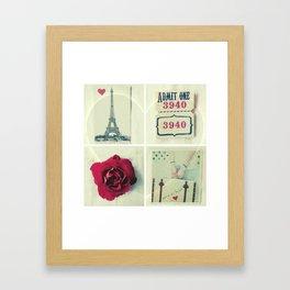 Paris Collage Framed Art Print