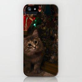 Kitten for Christmas iPhone Case