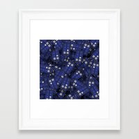 doctor who Framed Art Prints featuring Tardis by 10813 Apparel