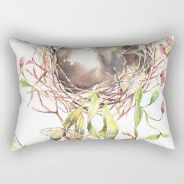 Butterflies' home Watercolor Surreal Art Nepenthes Rectangular Pillow
