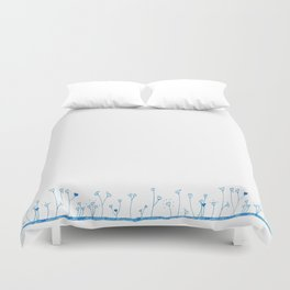 Lawn of hearts Duvet Cover