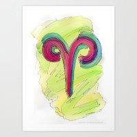 Aries Flow Art Print