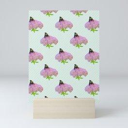 Bee And Sedum Bloom Mini Art Print