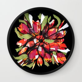collage of flowers Wall Clock