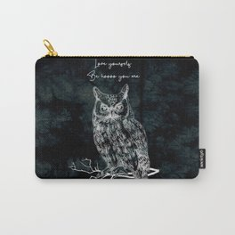 OWL love yourself, be hoooo you are Carry-All Pouch