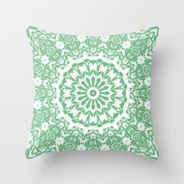 May Green Mandala Throw Pillow