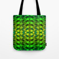 green pattern Tote Bags featuring Green pattern. by Assiyam