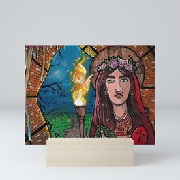 The Woman and the Cave Mini Art Print
