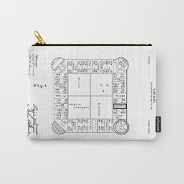Monopoly: Original Patent Drawing Carry-All Pouch