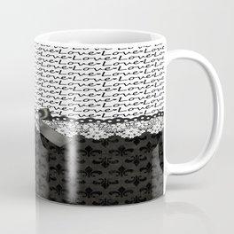 Elegant Black Love Coffee Mug