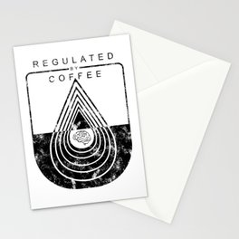 Caffeine on the Brain // Regulated by Coffee Espresso Drip Distressed Living Graphic Design Stationery Cards