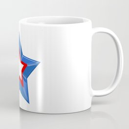 Patriotic Star Solid Red White and Blue Coffee Mug