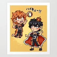 haikyuu Art Prints featuring haikyuu!!  by Minty Art
