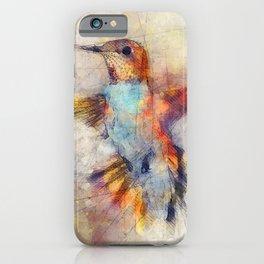 Hummingbird art series iPhone Case