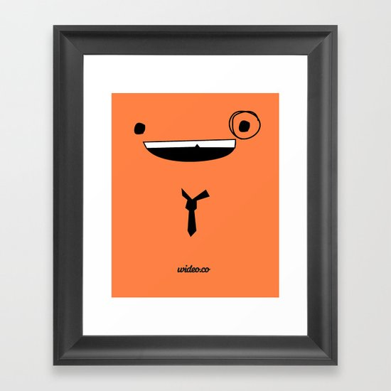 MR WIDEO Framed Art Print
