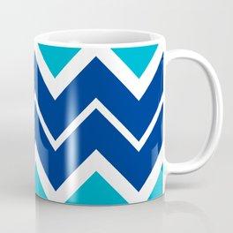 Big Chevron:  Blue + Turquoise Coffee Mug