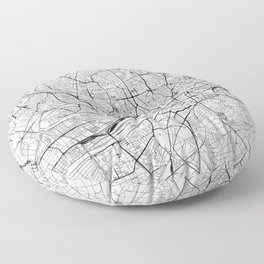 Frankfurt White Map Floor Pillow