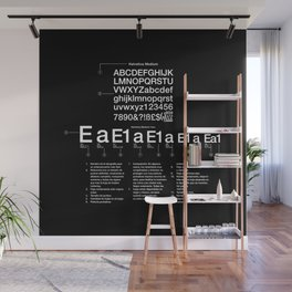 Helvetica Wall Mural
