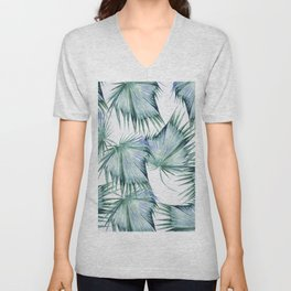 Floating Palm Leaves 2 Unisex V-Neck