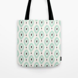 Bohemian Ikat - Dark gray, light blue and cream pattern Tote Bag