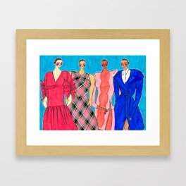 Delpozo Girls in Pre Fall 2019 – Original Fashion art, Fashion Illustration, Fashion wall art Framed Art Print