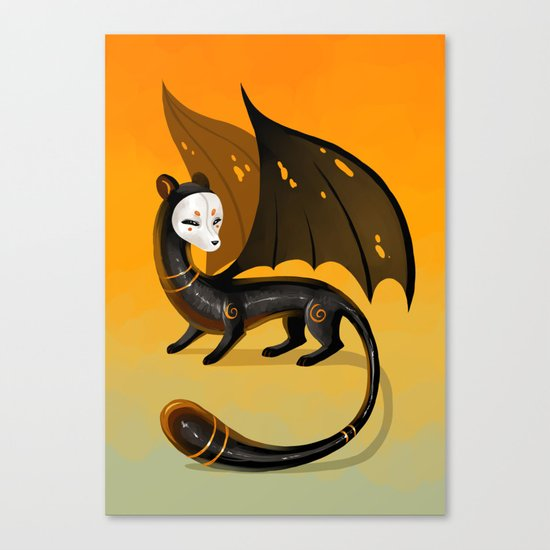 Black Stoat Canvas Print