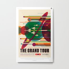 NASA/JPL Poster (The Grand Tour) Metal Print