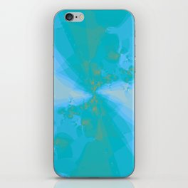Shattered in Light Blue iPhone Skin