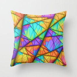 Colorful Slices Throw Pillow