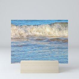 Wonderful ocean splashes Mini Art Print