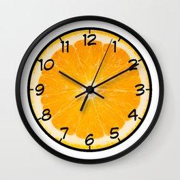 Life is an Orange Wall Clock