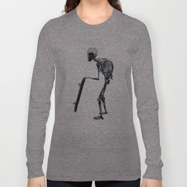 old school skateboarder or maybe just old  Long Sleeve T-shirt