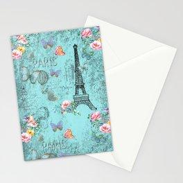 Paris - my blue love Stationery Cards