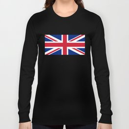 UK Flag - High Quality Authentic 1:2 scale Long Sleeve T-shirt