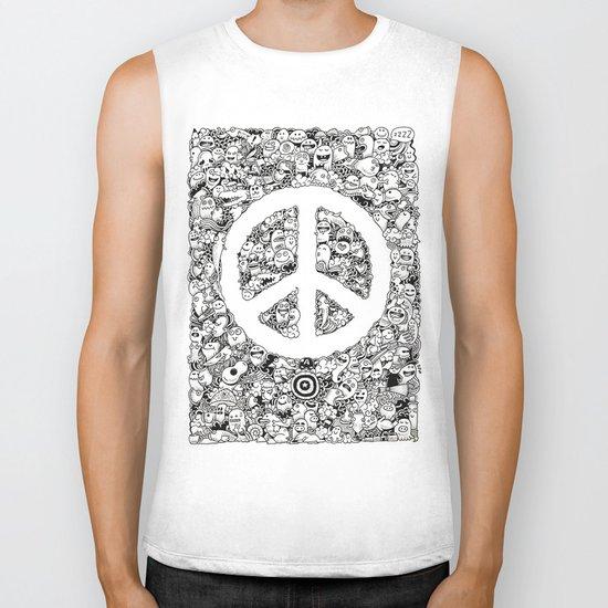 Peace Doodle Biker Tank