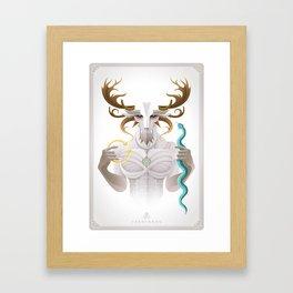 Cernunnos / Animal Gods Framed Art Print