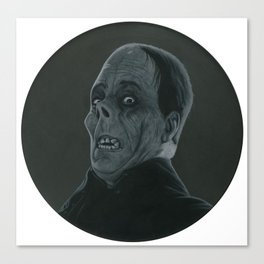 The Opera's Phantom on vinyl record print Canvas Print