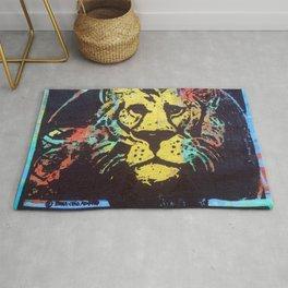 Colorful Lion Rug