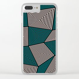 Geometric 2 Clear iPhone Case